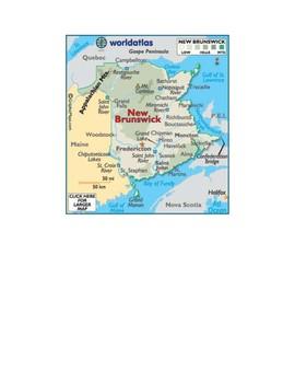 New Brunswick Map Scavenger Hunt