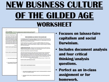 New Business Culture of the Gilded Age - US History - APUSH