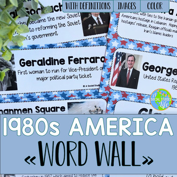 America 1980s to Today Word Wall