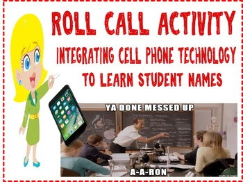 New Class or First Day of School Roll Call Activity with lesson plan