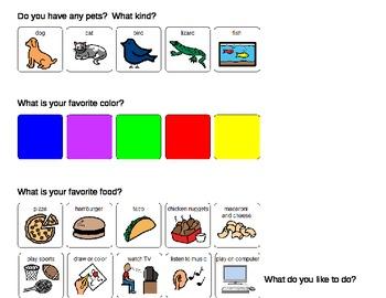 New Classmate Question Worksheet