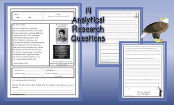 New Colossus Emma Lazarus Analytical Research Poem Analysis Common Core