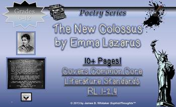 New Colossus Emma Lazarus Analytical Research Poem Analysi