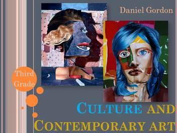 Elementary Art Lesson: Contemporary Art Collage Profile Portraits & Marzano DQ