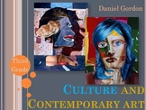 Elementary Art Lesson: Contemporary Art Collage Profile Po