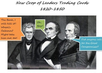 New Crop of Leaders Trading Cards 1820-1850