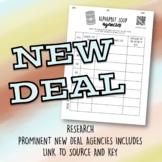 New Deal Agencies Alphabet Soup Worksheet