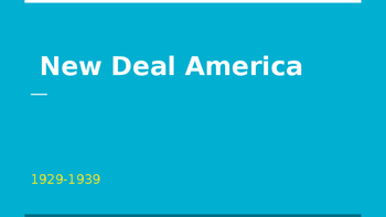 New Deal America 1929-1939