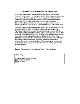 New Deal Argumentative Essay