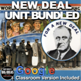New Deal Unit- PPTs w/Video Links, Primary Source Docs, Project, Essay, Test