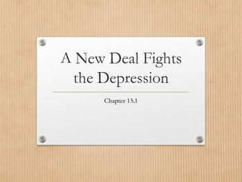 New Deal Fights the Depression