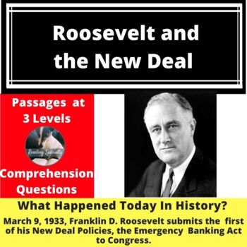 New Deal--Franklin Roosevelt Differentiated Reading Passage March 9