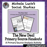 New Deal Great Depression Primary Source Analysis