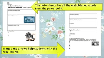 New Deal (Part 2)- Powerpoint with Notes. United States History. Grades 9-12