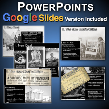 New Deal PowerPoints with Short Videos & Quiz