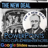 New Deal PowerPoints with Short Video Links & Quiz