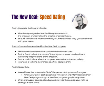New Deal Speed-Dating Activity