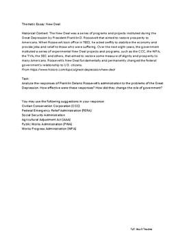 new deal essay outline