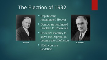 New Deal and Great Depression PowerPoint