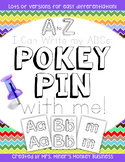 New Differentiated Pokey Pin Letter Formation ABC Literacy To Go For Kinders/1st