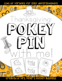 New Differentiated Pokey Pin Thanksgiving Fine Motor  Literacy Centers To Go