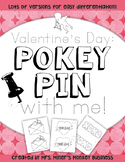 New Differentiated Pokey Pin Valentine's Day Fine Motor  L