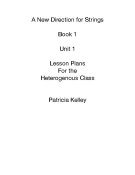 New Direction For Strings Unit 1 Lesson Plans