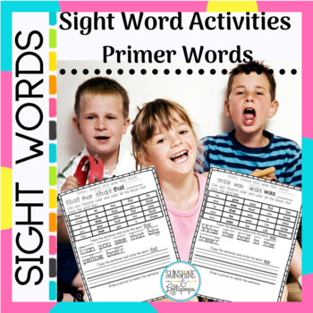 Sight Word Practice Worksheets Dolch Primer Activities Ready to Print and Use