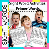 Sight Word Practice Worksheets Dolch Primer Activities Rea