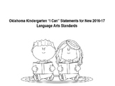 "Oklahoma Kindergarten ""I Can"" Statements for New ELA Standards"