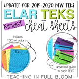 New ELAR TEKS Cheat Sheets - Kindergarten