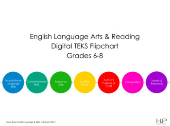 Grades 6-8 New ELAR TEKS Digital Flipchart