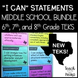 New ELAR TEKS I Can Statements 6th, 7th, and 8th Grade BUNDLE