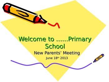 New EYFS Parents Presentation for Schools