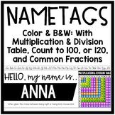 New Editable Student Name Tags