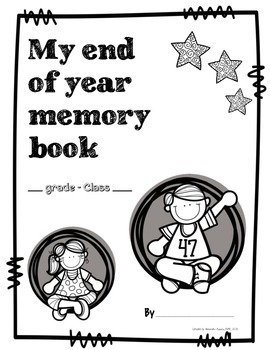 PERFECT End of year memory book