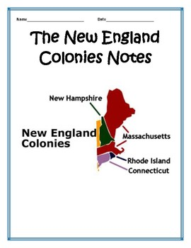 New England Colonies BUNDLE