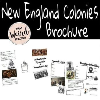 New England Colonies Brochure