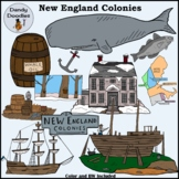 New England Colonies Clip Art by Dandy Doodles