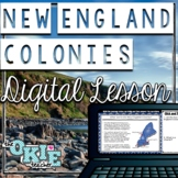 New England Colonies Digital Lesson - Distance Learning