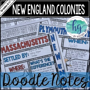 New England Colonies Doodle Notes