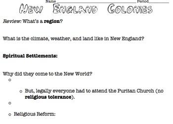 New England Colonies Intro.