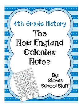 New England Colonies Notes