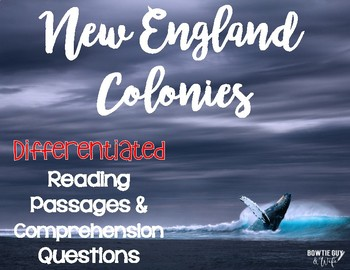 New England Colonies Passages Differentiated Reading Texts Colonial America