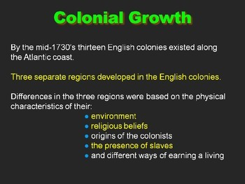 US History 8 New England Colonies PowerPoint