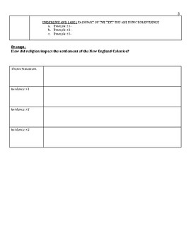 New England Colonies Primary Source Activity