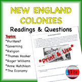 New England Colonies Reading & Questions