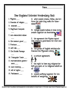 New England Colonies Teacher Resources Set