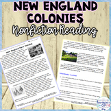 New England Colonies Nonfiction Activity