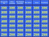 Jeopardy - The New England Colonies (A 5th Grade Comprehensive Review)